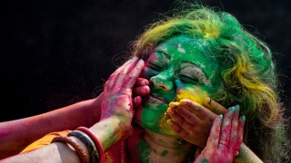Dubai Drenches in Colours of Holi