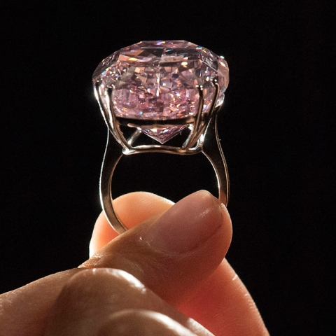 Photo: The Most Expensive Pink Diamond