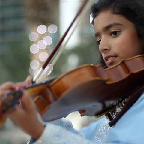 Photo: Fatima Al Raqbani: Dreams of leading an orchestra at Dubai Opera