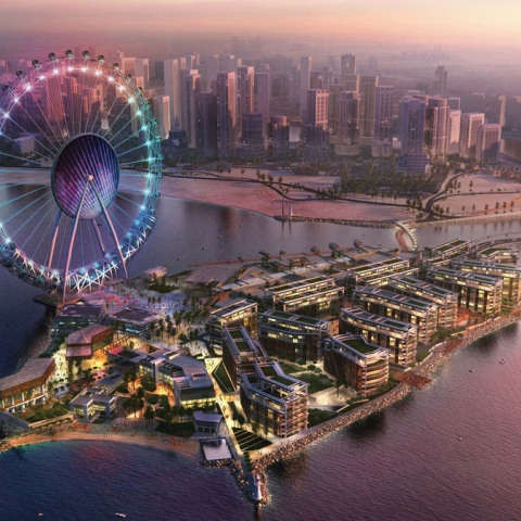 Photo: Landmarks Light Up Dubai's Skyline