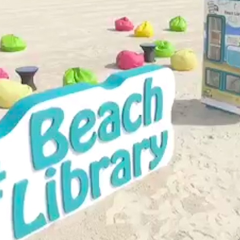 Photo: Book Yourself at a Beach Library