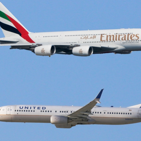 Photo: United vs Gulf Airlines The Smart Confrontation
