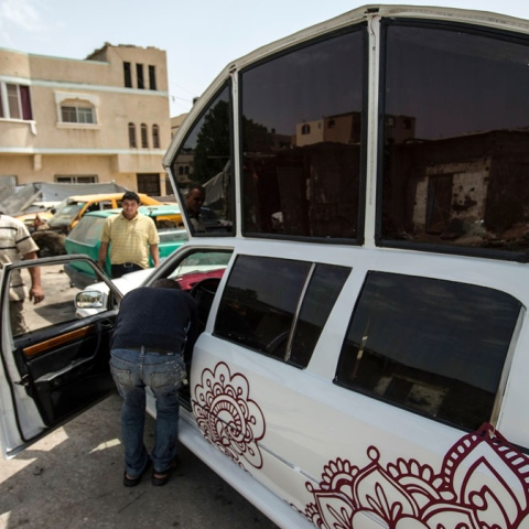 صور: ليموزين غزة
