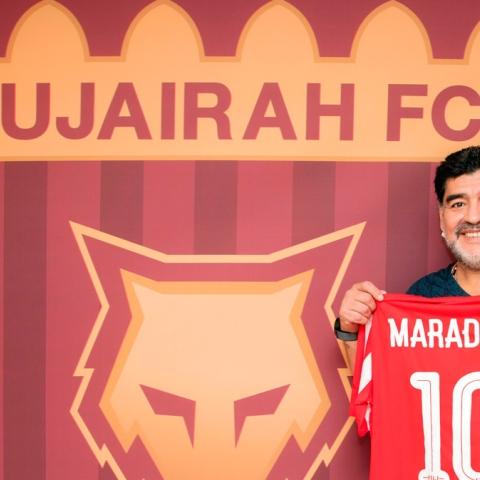 Photo: Maradona to Coach Fujairah