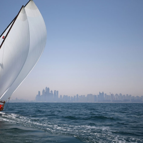 Photo: 'Al Gaffal' Dhows Set Sail
