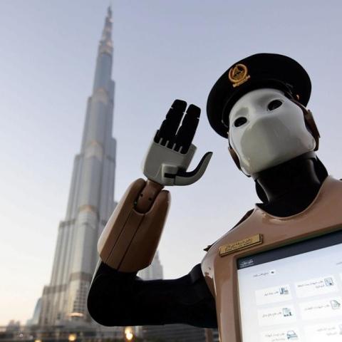Photo: Crime-fighting Robocop