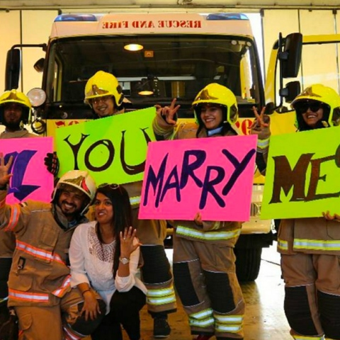 Photo: Firefighter Style Engagement