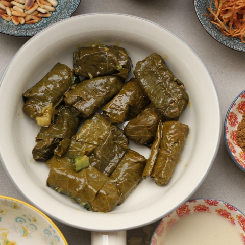 Photo: Healthy and Smart... Vine Leaves Fatteh