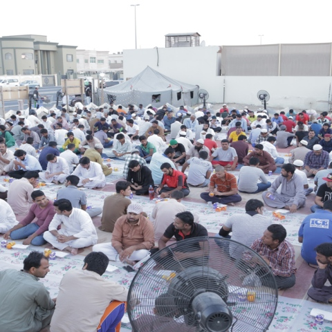 Photo: Iftar Tent: Intimacy and Compassion