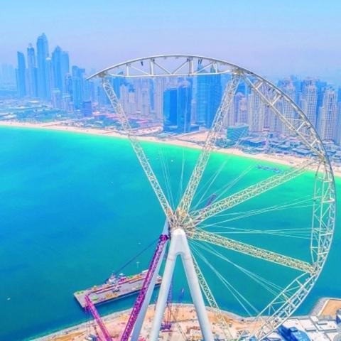 """صور: 50% إنجاز من """"عين دبي"""""""