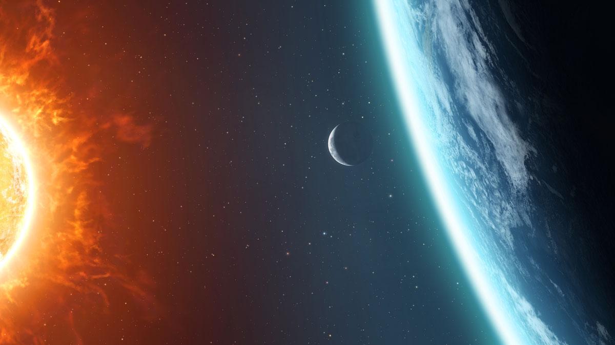 عاصفة شمسية نحو الأرض