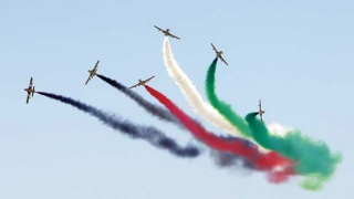 UAE Flag in Russian Skies