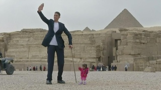 The Tallest & The Shortest At The Foot Of Pyramids