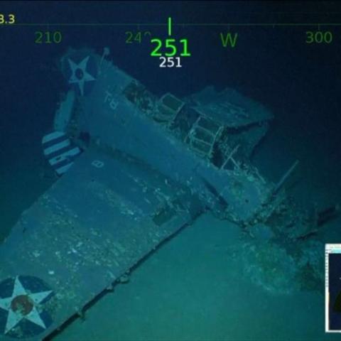 صور: العثور على حطام حاملة طائرات غرقت منذ 76 عاماً