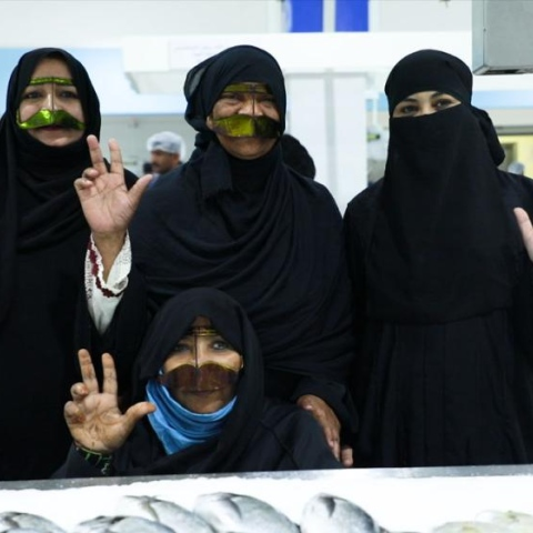 Photo: Female fish mongers back in Dubai