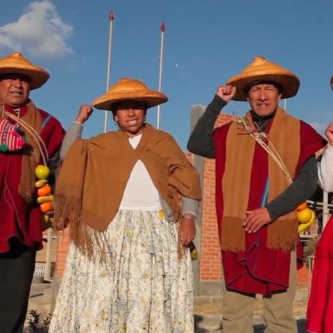 Photo: The female wrestlers of Bolivia