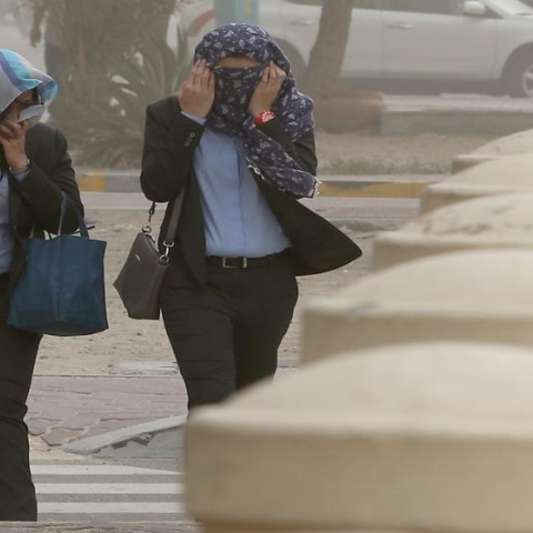 Photo: How do you deal with sandstorms?