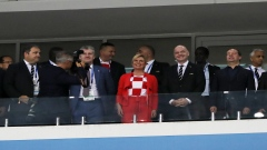 The Croatian president stole the spotlight from the players in Croatia's win against Russia!