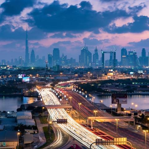 """صور: """"يوم بلا حوادث"""" في دبي"""