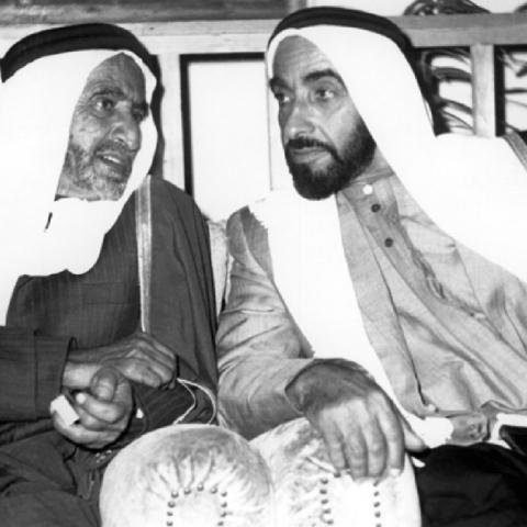 صور: الذكرى الـ28 على رحيل المغفور له الشيخ راشد بن سعيد آل مكتوم