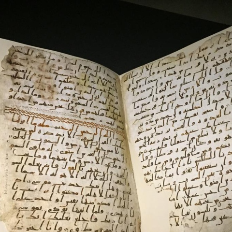 Photo: The oldest version of Quran at the University of Birmingham