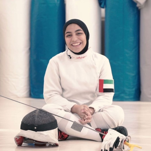 Photo: HI DUBAI Episode 21 – SPORT – Shahed, fencer