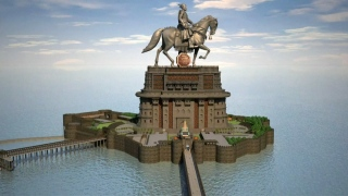 Mumbai Statue Stands on Divided Shores