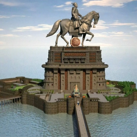 Photo: Mumbai Statue Stands on Divided Shores