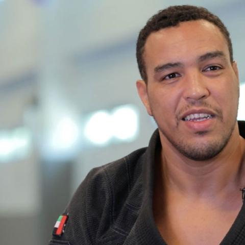 Photo: The captain of the Emirates jujitsu team, Faisal Al Ketbi