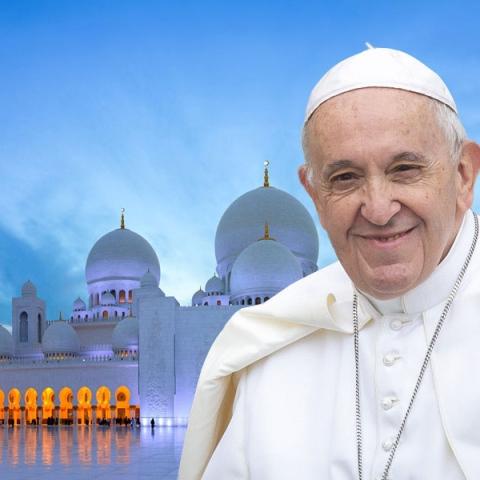 """صور: زيارة تاريخية لـ""""البابا فرانسيس"""" إلى دولة الإمارات"""