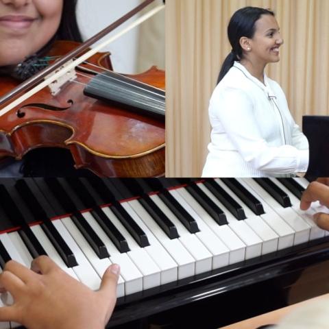 ${rs.image.photo} موهبتان سعوديتان تبدعان العزف في دبي