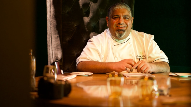 Photo: Musabbeh Al Kaabi.. The first Emirati chef