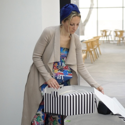 "Photo: The hat designer ""Ana Pribylova"": Dubai World Cup where the world meets"