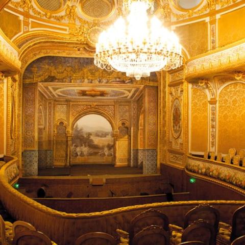 """صور: مسرح """"خليفة بن زايد"""" في قصر فونتانبلو في باريس"""