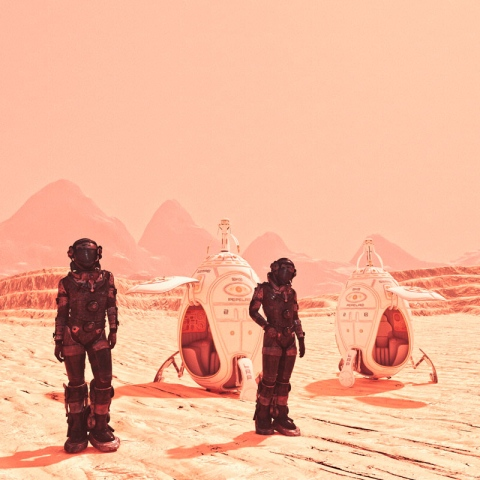 صور: يوم على كوكب المريخ