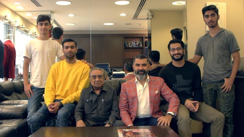 Photo: Parmar... three generations and six decades in Dubai