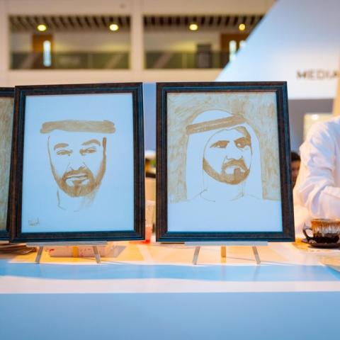 صور: فن الرسم بالقهوة بإبداع أحمد بافضل