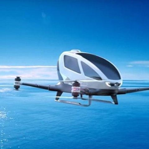 Photo: Dubai's Flying Taxi Takes Off