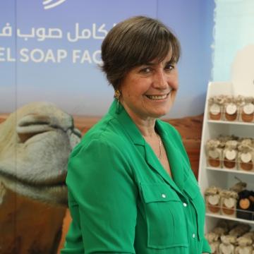 Photo: Camel soap named after Dubai areas