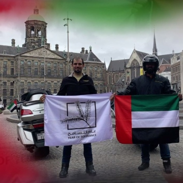 Photo: Dubai based bikers cross European borders to mark the Year of Tolerance