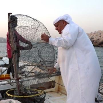Photo: The sea is my sweet life! - Fisherman Eissa Al Falasi