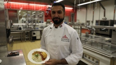 Saud Al Matrooshi... The first Emirati chef in the world's largest flight catering kitchen