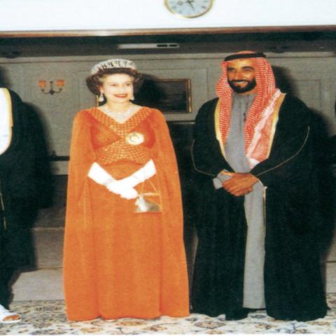 صور: زيارة الملكة إليزابيث للإمارات قبل 41 عاماً