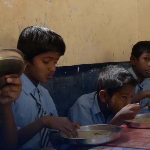 صور: 90 ألف وجبة يومياً لأجل التعليم