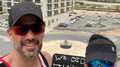 Dubaians run a marathon on their balcony to encourage positivity & fitness
