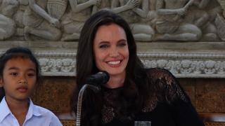 Angelina Jolie Films on Cambodian Tragedy