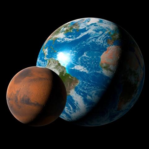 """صور: المريخ """"توأم الأرض"""""""