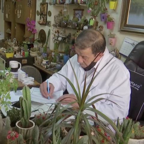 صور: عيادة طبية في الأردن تبدو كمشتل مليء بالنباتات