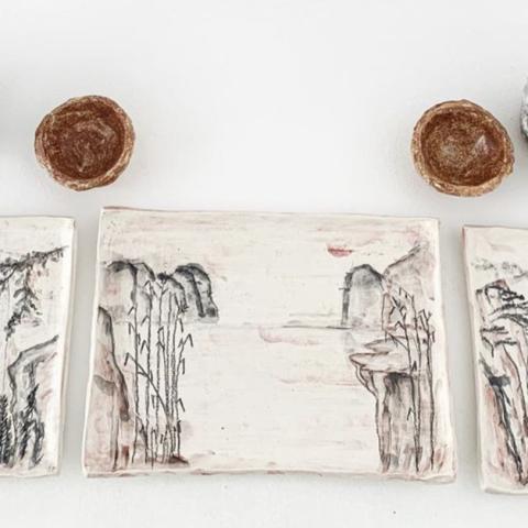 صور: صناعة الخزف والرسم عليه.. تحول النهايات لبدايات سعيدة