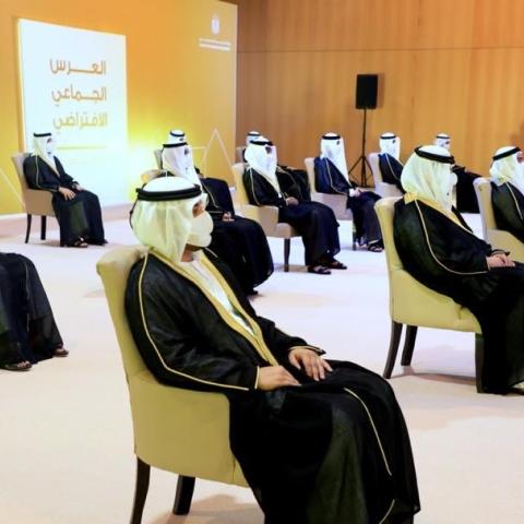 صور: أول عرس جماعي افتراضي في الإمارات بمشاركة 100 عريس